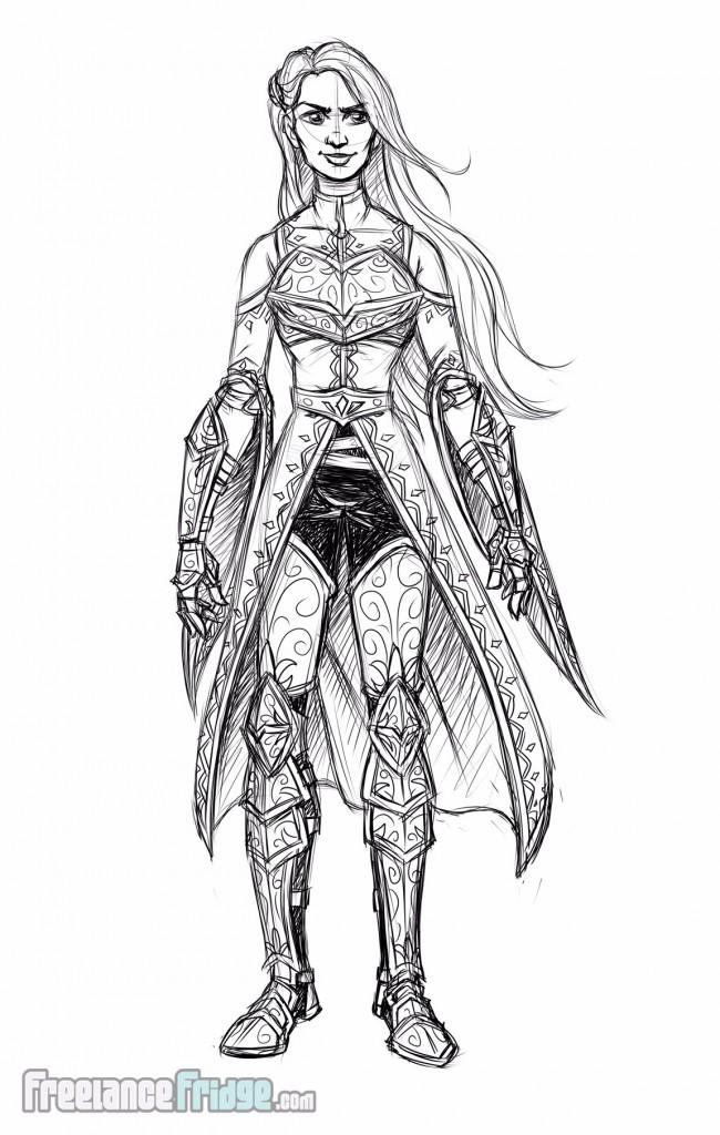 Warrior Knight Woman