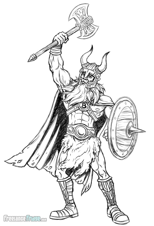 Viking Character Design for a Business Mascot