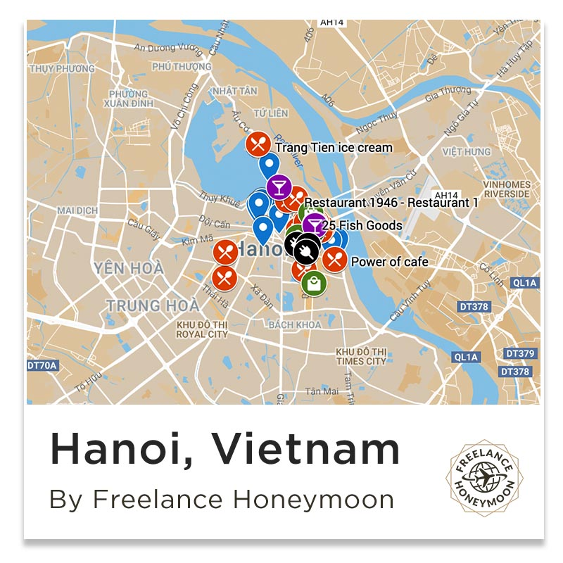 Hanoi City Map Attractions
