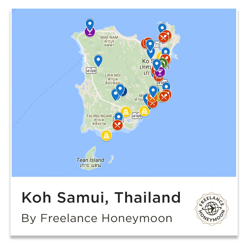 Koh Samui Map of Things to Do