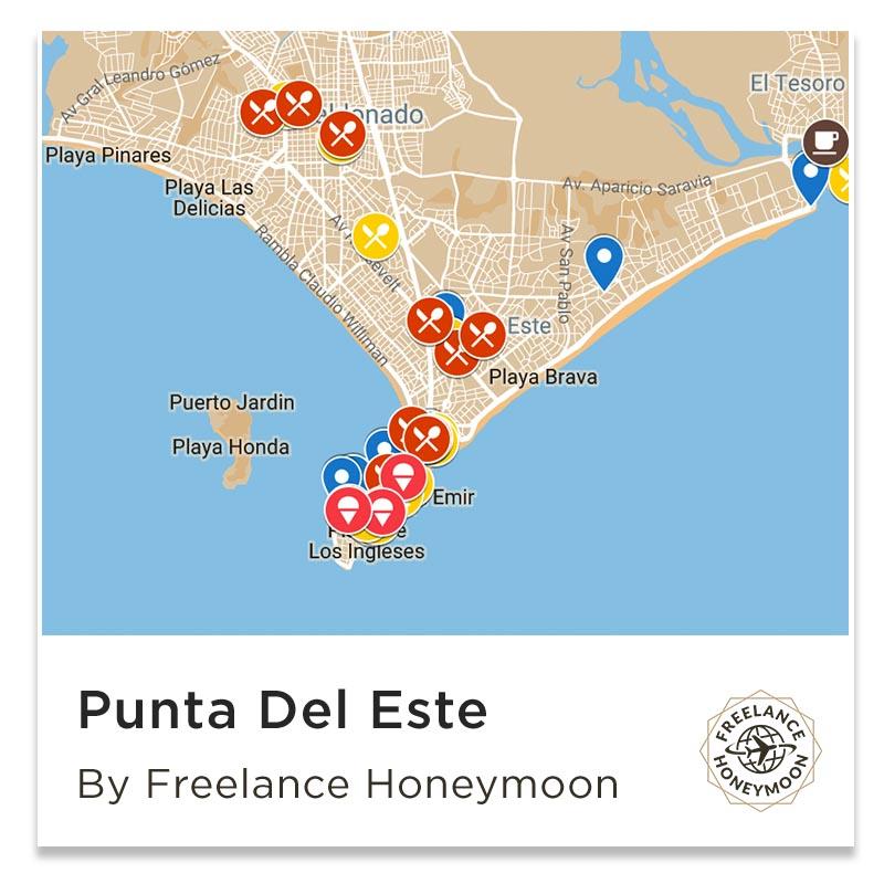 Attractions Map Punta Del Este Uruguay