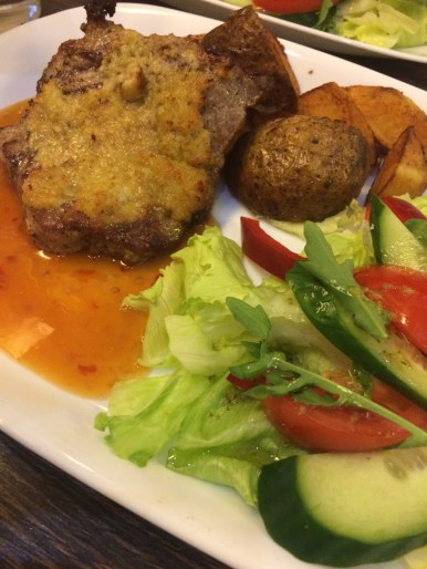 Pork with garlic sauce at Kavinė Klaipėdos Senamiestis