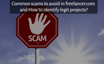 common scams in freelancer.com and how to identify real projects?
