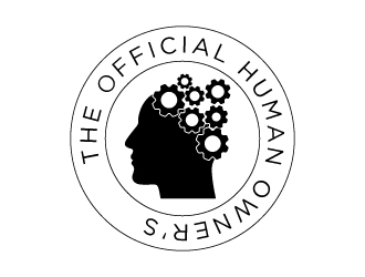 Official Human Owners Manual logo design