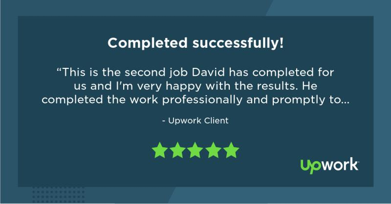 Upwork Feedback for David Mbugua