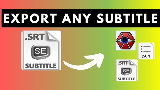 How to Export Any Subtitle Into Multiple Formats at Once Using Subtitle Edit