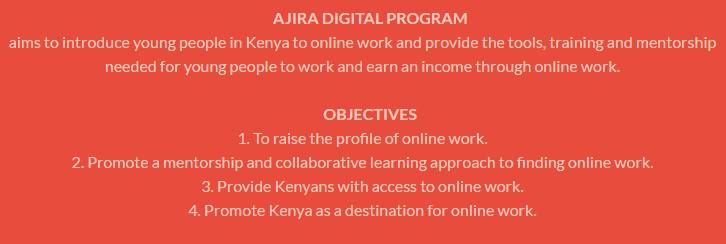 Ajira Digital Objectives