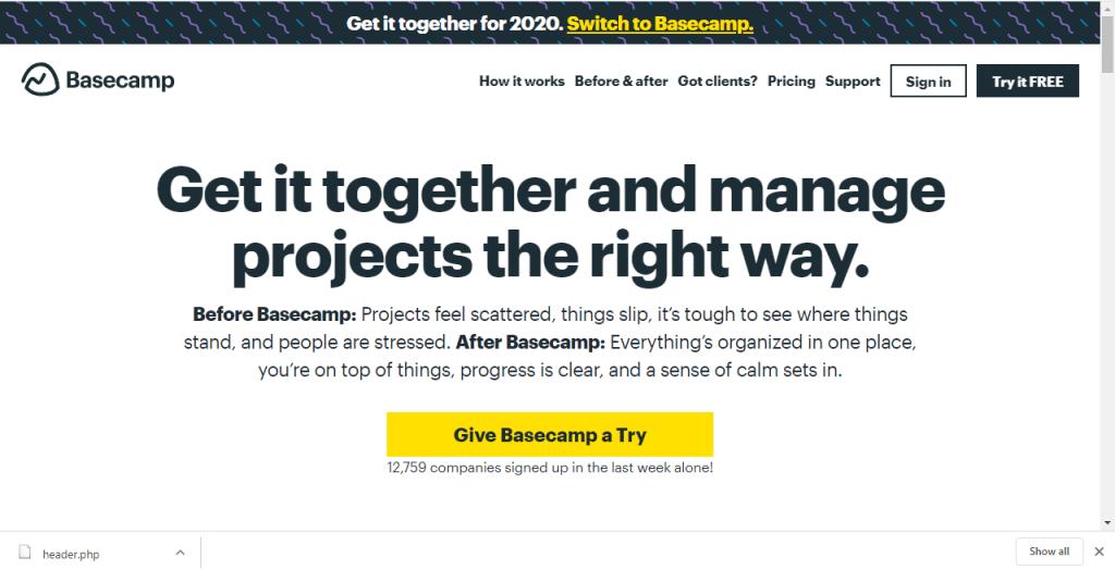 Basecamp-freelance writing tools