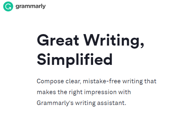 Use Grammarly to simplify writing and editing