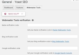 Using Yoast SEO to verify with Google Webmaster Tools