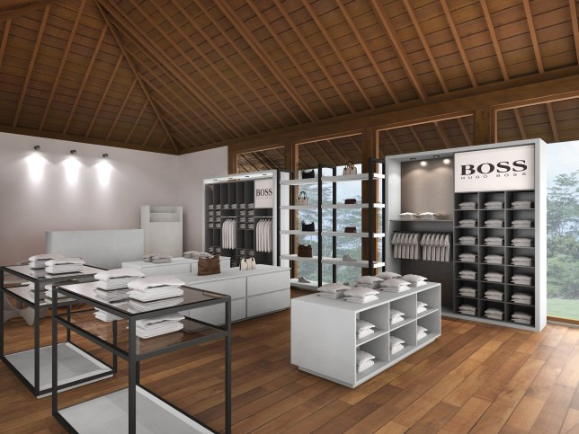 2. hugo boss rendering - freelance visual merchandiser dubai - uk