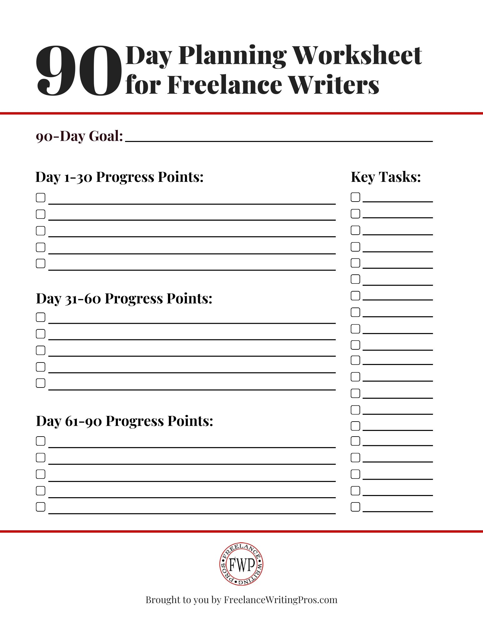 90 Day Planning For Freelance Writers