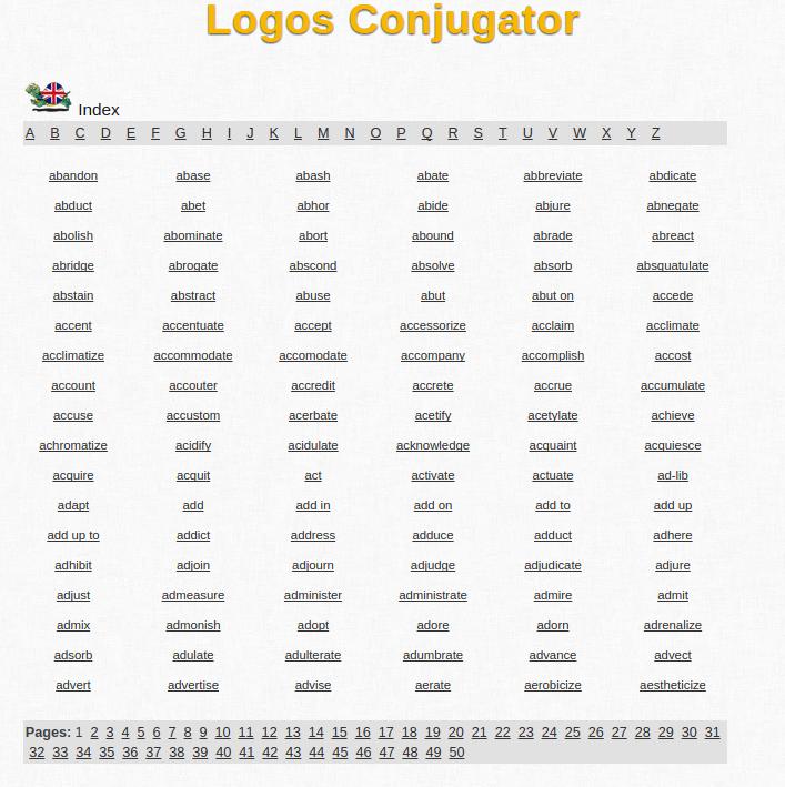 Free online english verb conjugation and learning conjugator also rh freelanguage