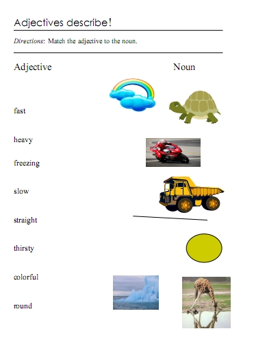 Adjectives Word Lists Activities And Worksheets