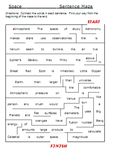 Science Vocabulary Space And Astronomy