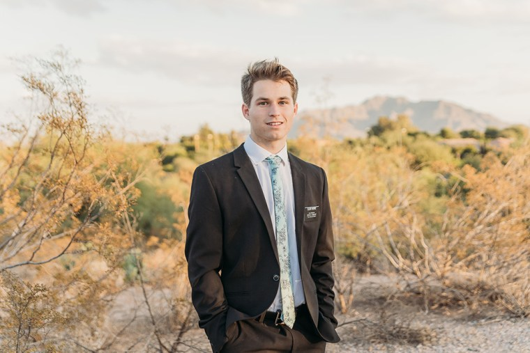 LDS missionary photoshoot in chandler az san tan mountains