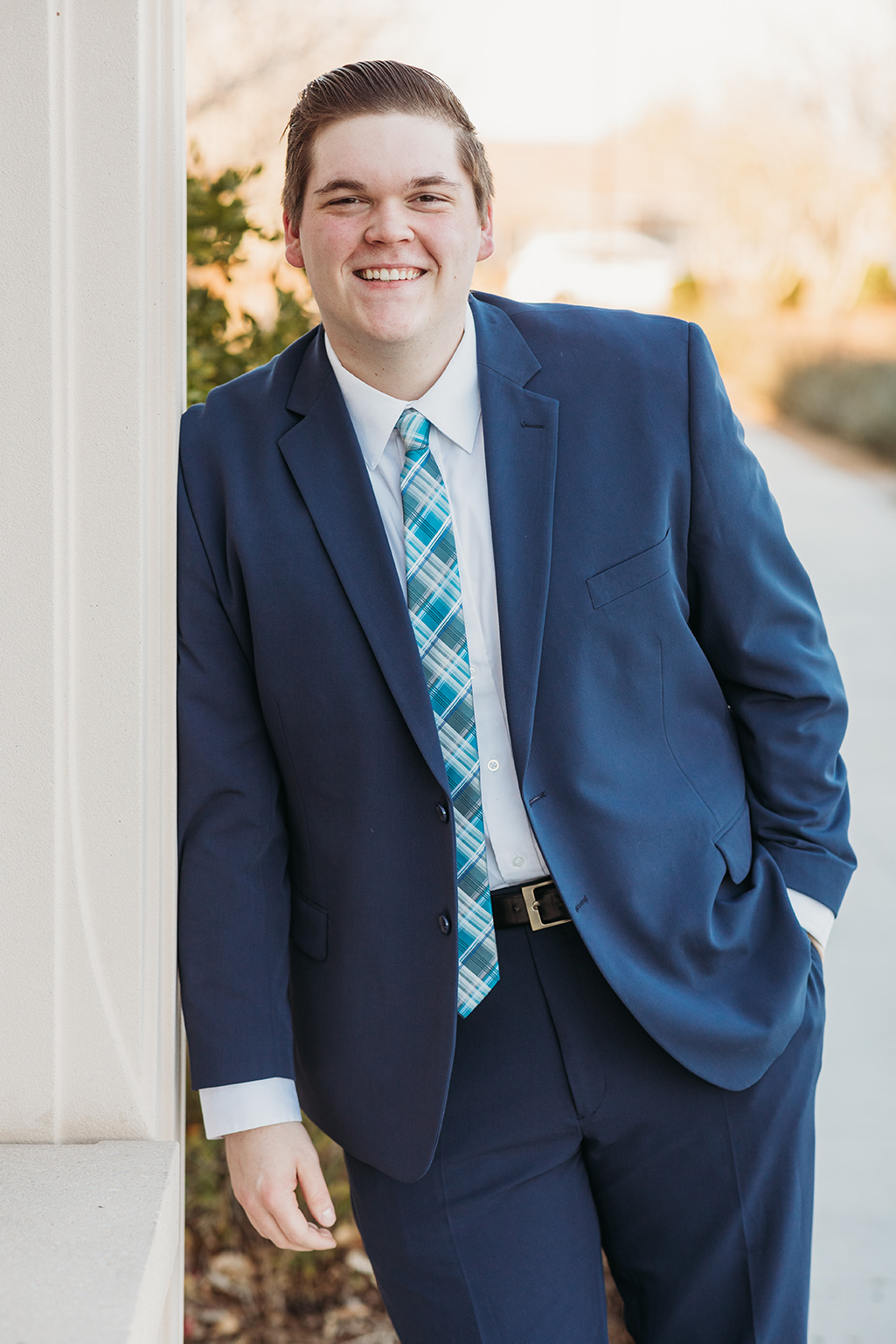 LDS missionary photoshoot in front of the gilbert arizona temple