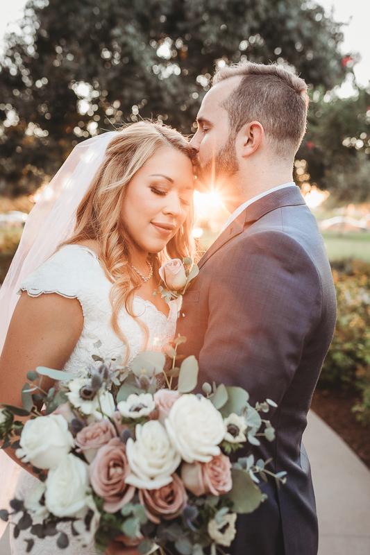LDS wedding bride and groom photos at the Gilbert Arizona Temple