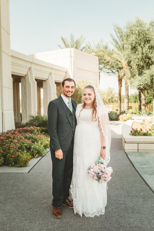 LDS wedding bride and groom photos Gilbert AZ