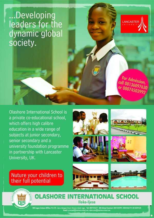 Olashore International School Freelart Design