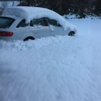 Audi A4 in Snow