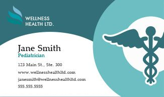 Healthcare Business Cards Design Custom Business Cards