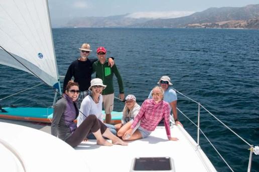 Morning sail aboard Free Luff