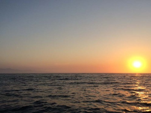 Sunset while en route to Catalina from Santa Cruz Island