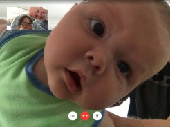 FaceTime with guide-baby, Jack