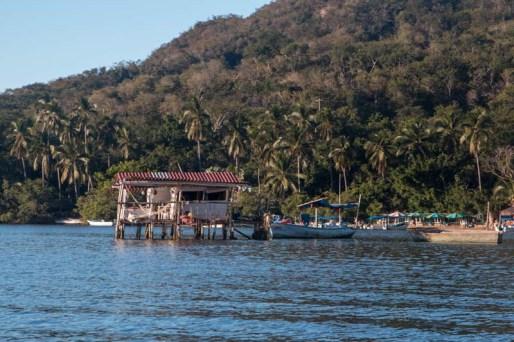 Bait shack in the Barra lagoon