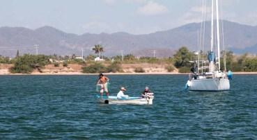 Net fishing in the lagoon
