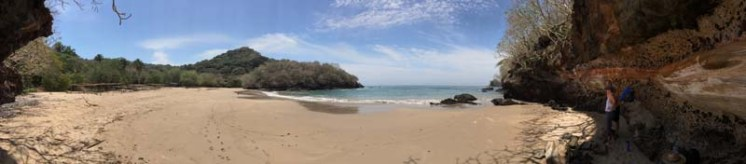 and a beautiful beach along the way