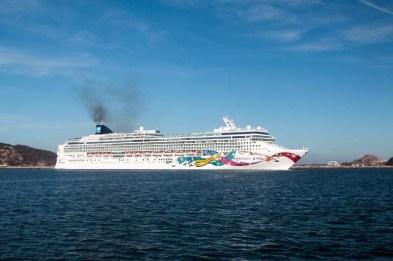 Cruise ship spewing shit