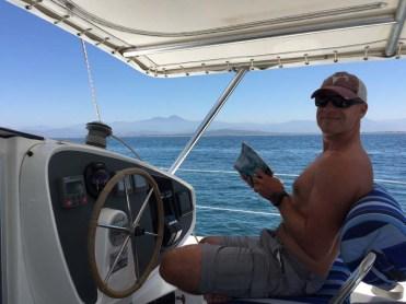 Crew enjoying the short trip to San Blas