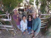 Donkeys and Nan in Todos Santos