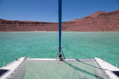 Gorgeous water in Caleta Partida
