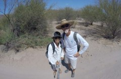 Hike through the desert to Agua Verde pueblita/tienda
