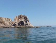 A rocky point off Pescador