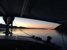 Isla Mitlán anchorage. BITEY!