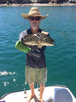 Big grouper captured in Puerto Don Juan (still in the freezer)