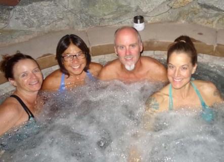 Hot-tubbin' at the Resort