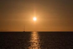 Single-D leaving San Juanico at sunrise