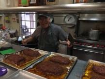 Pop making meatloaf at Kiku