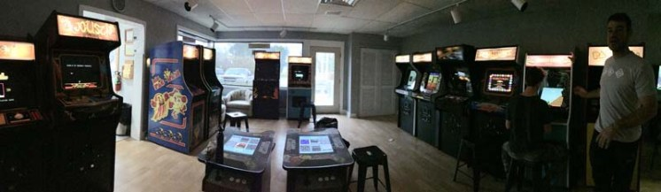 The arcade room