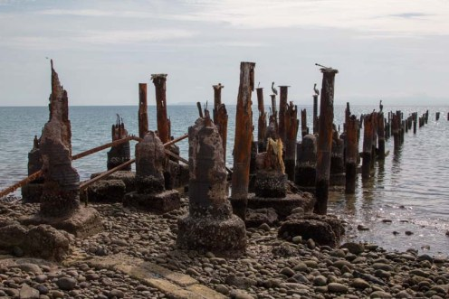 The dilapidated pier