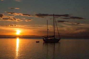 Ripple at sunset