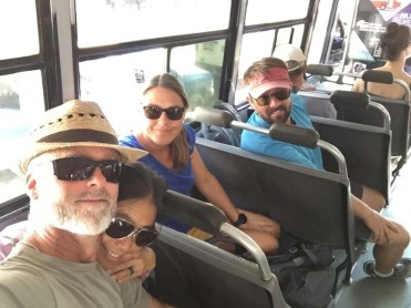 On the bus to Costco