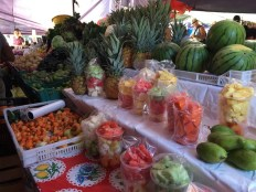 Gorgeous displays of food at the market