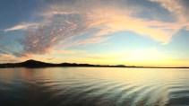 Sunset over the Barra lagoon