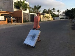 Schlepping through the streets of Barra